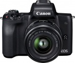 Canon EOS M50 Kit mit EF-M 15-45mm IS STM, SB-130 Bag Black und 16GB SD-Karte bei melectronics