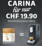 Delizio Kaffeemaschine Carina in Midnight-Black plus 48 Kapseln bei Migros für CHF 39.70