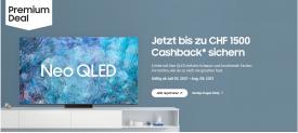 Bis zu CHF 1'500.- CB auf Samsung NeoQLED TV