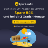 CyberGhost VPN: CHF 2.05 / Mt. + 2 Monate gratis!