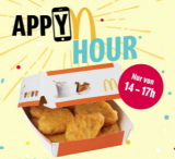 9 Chicken McNuggets bei McDonald's heute von 14 bis 17 Uhr für CHF 3.90