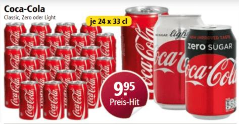 24x33cl Coca Cola Dosen bei Otto's