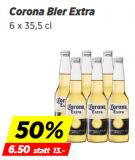 50% Rabatt auf Corona Bier im 6er-Pack im Denner