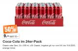 Coca Cola Classic oder Zero im 24er-Pack (330ml Dosen) bei Migros für CHF 9.-