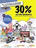 Ankündigung: 30% Rabatt auf alle Spielwaren bei coop am 16. und 17. November
