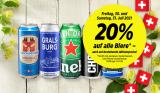 20% Rabatt auf alle Biere bei Denner (auch auf Aktionen)