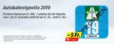 Vignette 2019 für 35CHF statt 40CHF bei Denner ab CHF 100 Einkaufswert