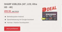 SHARP 65BL2EA (65″, LCD, Ultra HD – 4K) bei Interdiscount