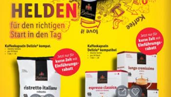 Kaffeekapseln Delizio kompatibel jetzt für kurze Zeit zum Einführungspreis ab 15 Rappen / Stück bei Lidl