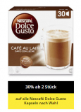 30% Rabatt auf das Nescafé Dolce Gusto Kaffeekapselsortiment bei Coop und coop@home (ab 2 Packungen)