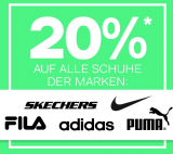 20% auf adidas, Nike, Fila, Skechers und Puma bei Dosenbach, z.B. Puma Cilia Damen Chunky Sneaker für CHF 55.90 statt CHF 69.90