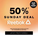 Nur heute: 50% auf Reebok bei Dosenbach