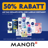 50% auf Nivea Produkte bei Manor ab zwei Stück