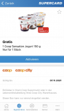 Gratis Sensation Jogurt in der Supercard App