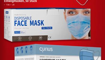 Einwegmasken (50 Stück) bei Lidl zum Aktionspreis und weitere Aktionen