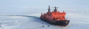 Expedition zum Nordpol auf einem Atomeisbrecher