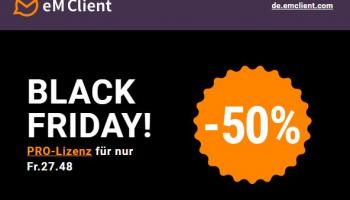 50% Rabatt auf Pro-Lizenz vom eM Client