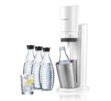 SodaStream Crystal mit 3 Glaskaraffen und Patrone für 60l bei DayDeal
