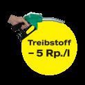 5 Rappen pro Liter Rabatt bei Coop Pronto