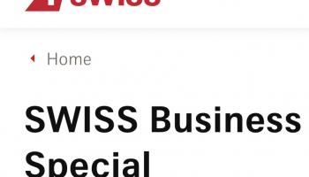 Swiss Business Flüge stark vergünstigt