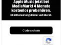4 Monate Apple Music gratis via Mediamarkt Website.