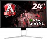 "AOC AGON AG241QG Gaming Monitor (23.8 "", QHD, 165 Hz, Schwarz/Rot/Silber)"