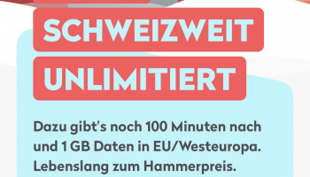 Wingo Swiss Pro (CH unlimitiert;  100min nach EU/Westeuropa + 1GB Daten)