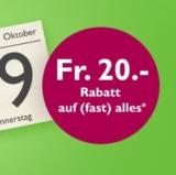 CHF 20.- Rabatt bei Orell Füssli ab einem Bestellwert von CHF 80.-