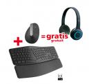Logitech Vertical Mouse MX + Headset H600