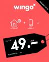 Wingo Mobile + Internet für 49 Fr. während 24 Monaten