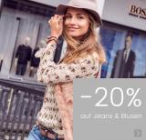 20% auf Jeans und Blusen bei Ackermann, z.B. B.C. Best Connections Röhrenjeans für CHF 71.92 statt CHF 89.90