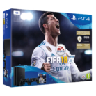 Playstation 4 Slim 1 TB mit Fifa 18 + 2 Dualshock Wireless Controllern bei microspot