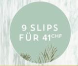 9 Slips für CHF 41.- bei Hunkemöller