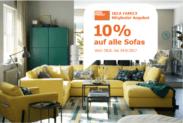 10% auf alle Sofas bei IKEA für IKEA Familiy Mitglieder z.B. Friheten für CHF 404.10 statt CHF 449.-