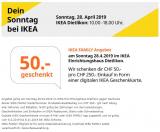 IKEA Dietlikon – CHF 50 pro CHF 250 Einkaufswert geschenkt am Sonntag