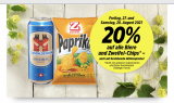 Denner: 20% Rabatt auf alle Biere und Zweifel-Chips – auch auf bestehende Aktionen