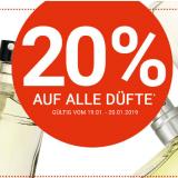 20% auf alle Düfte bei Import Parfumerie