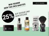 25% auf Rasur- und Bartpflegeprodukte bei Import Parfumerie