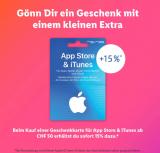 Zusätzlich 15% Bonus auf App Store & iTunes Geschenkkarte (ab CHF 50) bei Lidl