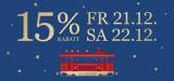 15% auf fast alles bei Jelmoli.ch und an der Bahnhofstrasse