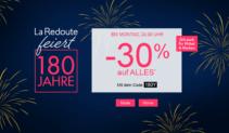 30% auf alles bei La Redoute – 180 Jahre Jubiläum