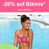 20% auf Bikinis bei Lascana, z.B. Bench. Balconette-Bikini »Jungle« für CHF 79.92 statt CHF 99.90