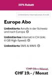 Lebara – Europe Abo jetzt für CHF 19 anstatt CHF 39 im Monat, unlimitierte Anrufe in der Schweiz und nach Europa