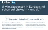 Linkedin Premium 12 Monate gratis für Studenten