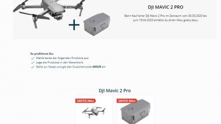 DJI Mavic 2 Pro mit Gratis Akku