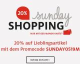 Nur heute: 20% auf viele Kategorien bei Manor im Sunday Shopping