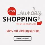 Manor Sunday Shopping: 20% auf Hautpflegeprodukte, Schlafzimmerartikel, Schuhe für Damen, Lego, Ringe, Trekking, Herren-Pullover, Rucksäcke, Kinder und Baby Pullover