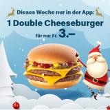 Diese Woche 1 Double Cheeseburger für CHF 3.- bei McDonalds (via App)