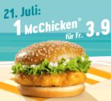 McChicken für 3.90 bei McDonalds nur heute!