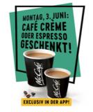 Heute den ganzen Tag kostenloser Espresso oder Café Crème (Coupon via App) bei McDonald's